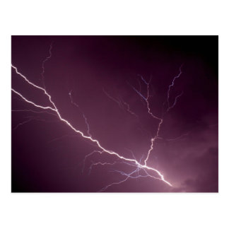 Lightning bolt postcard