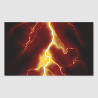Lightning Bolt Rectangular Sticker
