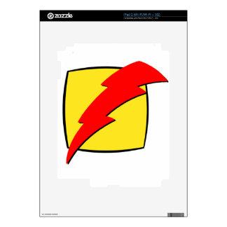 Lightning bolt retro look super hero logo decal for iPad 2