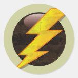 Lightning Bolt Round Sticker