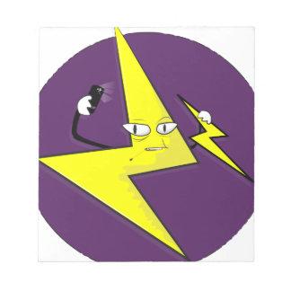 lightning bolt selfie note pad