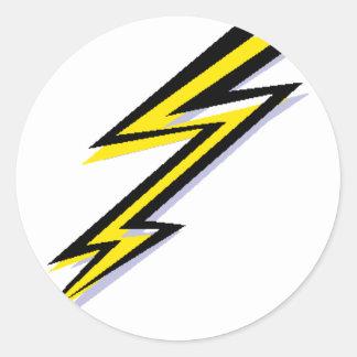 Lightning Bolt! Round Stickers