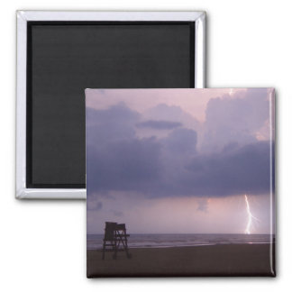 Lightning Bolt Strike Daytona Beach FL Magnet