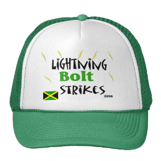 lightning bolt strikes trucker hat