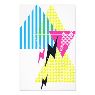 Lightning Bolt Triangle Flash 80's Stationery