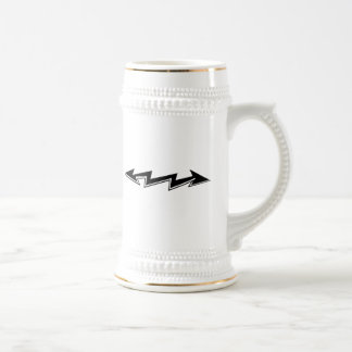 Lightning Bolt with Arrows Beer Stein
