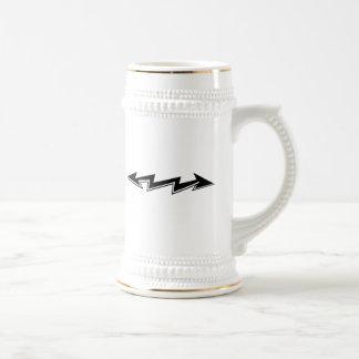 Lightning Bolt with Arrows Coffee Mugs
