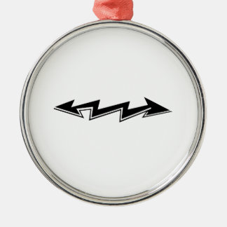 Lightning Bolt with Arrows Christmas Tree Ornaments