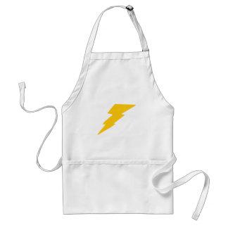 Lightning Bolt, yellow, thunder, storm, superhero Adult Apron