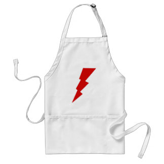 lightning bolts adult apron