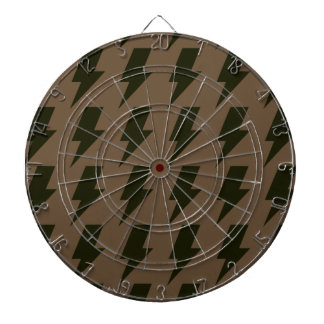 Lightning bolts brown black dart board