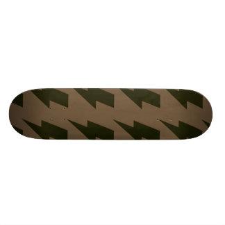 Lightning bolts brown black custom skateboard