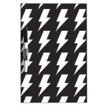 Lightning bolts bw dry erase white board