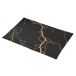 Lightning Bolts Cloth Placemat