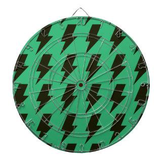Lightning bolts green black dartboards
