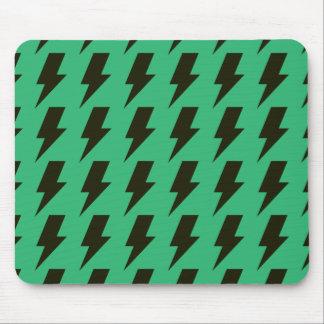 Lightning bolts green black mouse pads