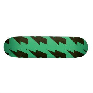 Lightning bolts green black skate board decks