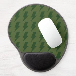 Lightning bolts greens gel mousepads