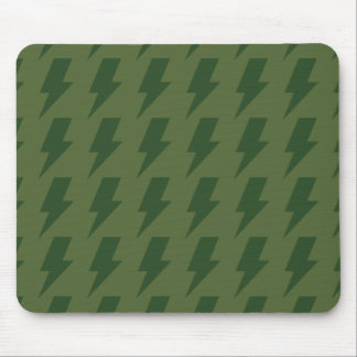 Lightning bolts greens mouse pads