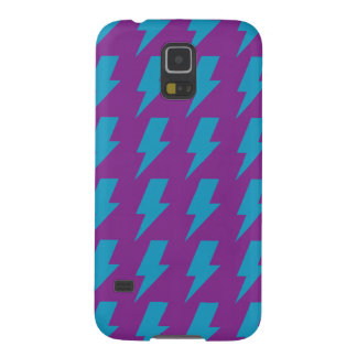 Lightning bolts magenta cyan cases for galaxy s5