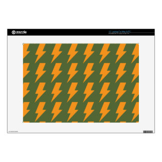 Lightning bolts orange green decals for laptops
