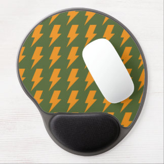Lightning bolts orange green gel mouse pad
