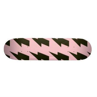 Lightning bolts pink black skate decks