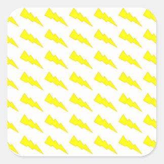 Lightning Bolts Square Sticker