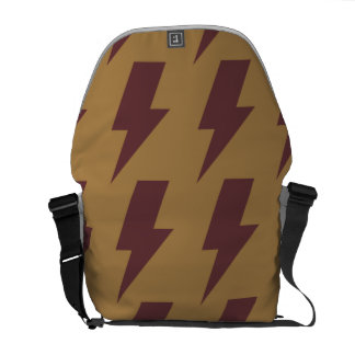 Lightning bolts tan brown courier bags