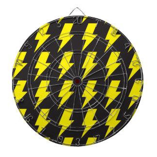 Lightning bolts yellow black dartboard