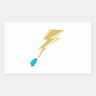 Lightning Bottle Rectangle Stickers