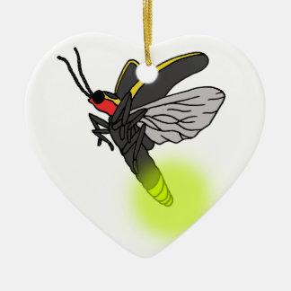 lightning bug flight 2 lit ceramic ornament