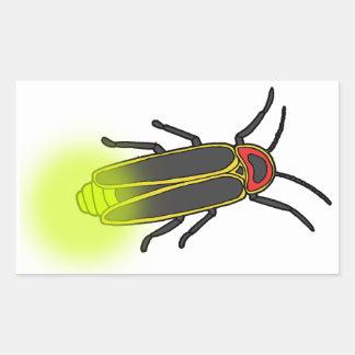 lightning bug lit rectangular sticker