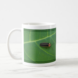 Lightning Bug on Leaf Coffee Mug