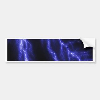 lightning car bumper sticker