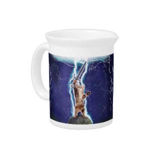 Lightning Cat Beverage Pitcher