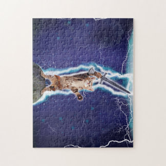 Lightning Cat Jigsaw Puzzle