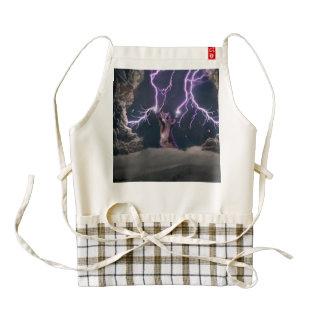 Lightning cat--kitty-pet-feline-pet cat -kittens zazzle HEART apron