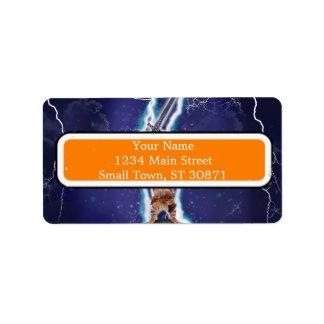 Lightning Cat Label