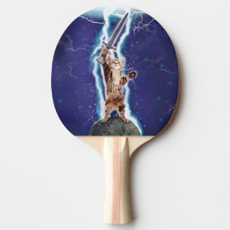 Lightning Cat Ping Pong Paddle