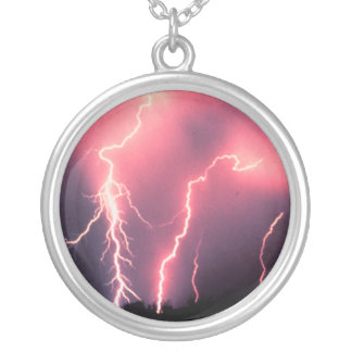 Lightning Charm Silver Plated Necklace