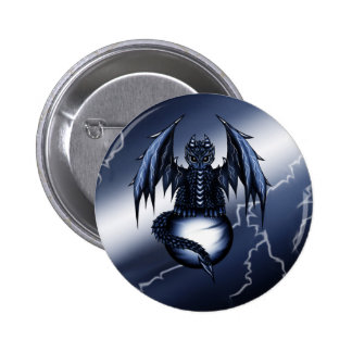 Lightning Dragon 2 Inch Round Button