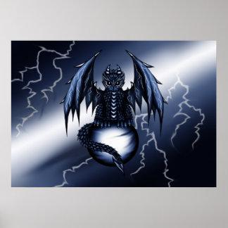 Lightning Dragon Poster
