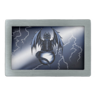 Lightning Dragon Rectangular Belt Buckle