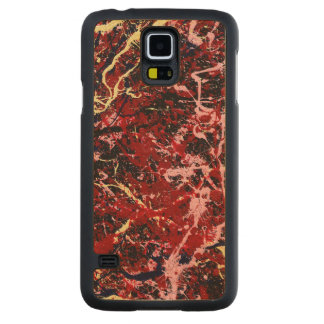 LIGHTNING FLASH (an abstract art design) ~ Carved® Maple Galaxy S5 Case