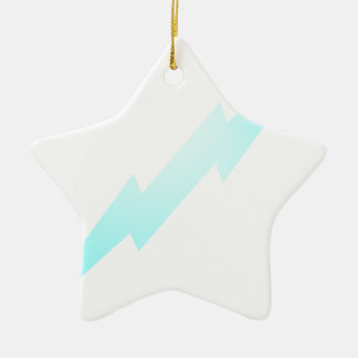 Lightning Flash Ceramic Ornament