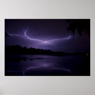 Lightning framed print 1