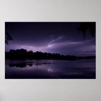 Lightning framed print 2