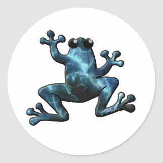 Lightning Frogs Classic Round Sticker