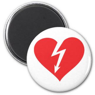 lightning heart icon magnet